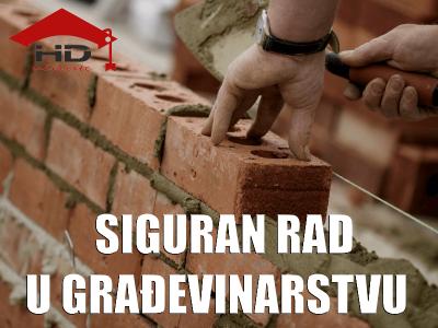 Priručnik: siguran rad u građevinarstvu